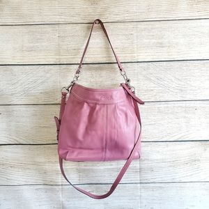 Coach Rose Pink Leather Satchel Purse